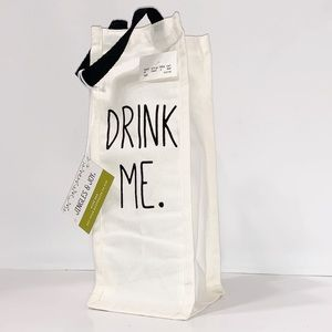Wine Canvas Bag 'DRINK ME' NWT
